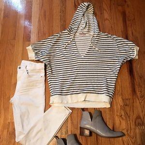 Sweaters - Striped Hoodie Sweater